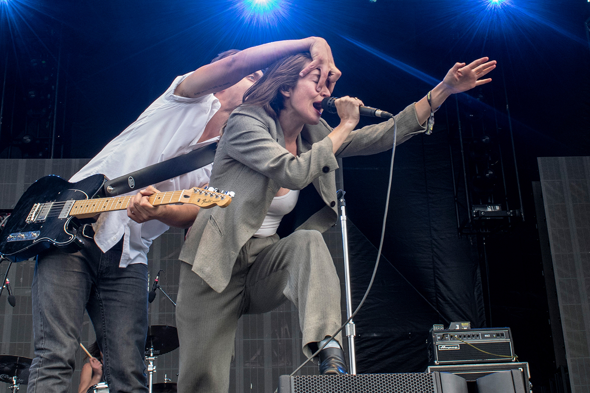 July Talk hasn't been at Sonic for a while, in between professing their love for the city and having a cheeky sip of some red wine they coaxed the audience into dancing; freeing their minds from thoughts on the harsh winds and cold.