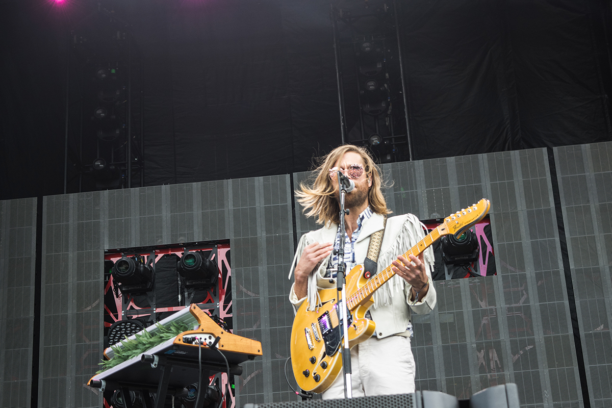 Jason Couse of the Darcys is a serious multitasker.