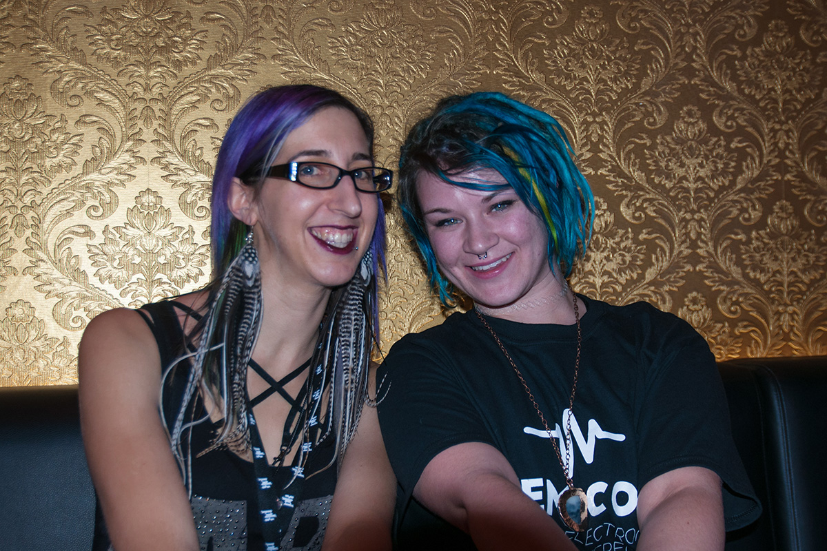 """I think it's amazing that everybody can come together under one roof and have so many diverse minds contributing to such a wonderful experience and scene."" – Aurora Moon (Electronic music enthusiast and producer) [right]"